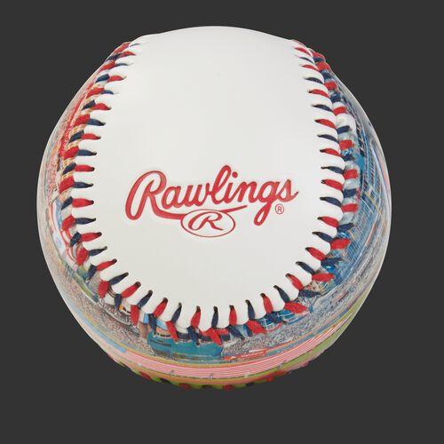Rawlings logo on an Atlanta Braves team stadium ball