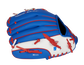 Back of a blue/white Toronto Blue Jays glove with the MLB logo on the pinky - SKU: 22000004111 image number null