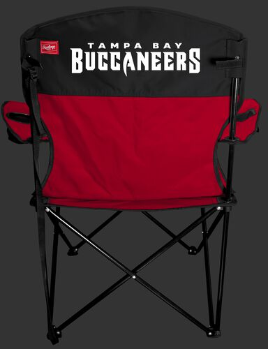 Back of Rawlings Red and BlackNFL Tampa Bay Buccaneers Lineman Chair With Team Name SKU #31021086111