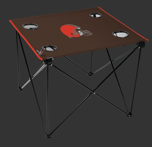 Rawlings Brown NFL Cleveland Browns Deluxe Tailgate Table With Team Logo Printed In The Middle SKU #00701064111
