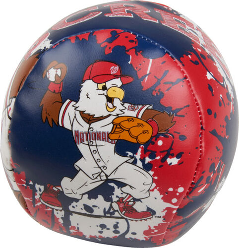 Rawlings Washington Nationals Quick Toss 4'' Softee Baseball With Team Mascot On Front In Team Colors SKU #01320031112