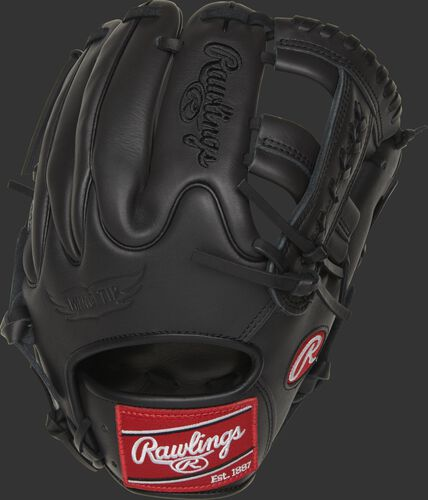 GXLE204W-19DS 11.5-Inch Gamer XLE infield glove with a dark shadow Wing Tip back