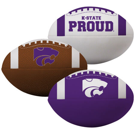 NCAA Kansas State Wildcats 3 Softee Football Set