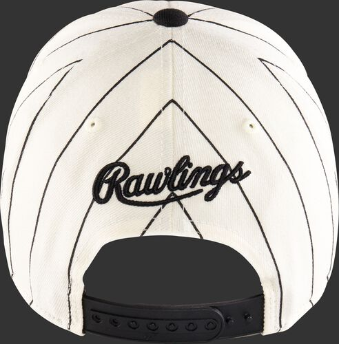 Back of a Rawlings Black Clover Retro hat with an adjustable snapback - SKU: BC0R00071