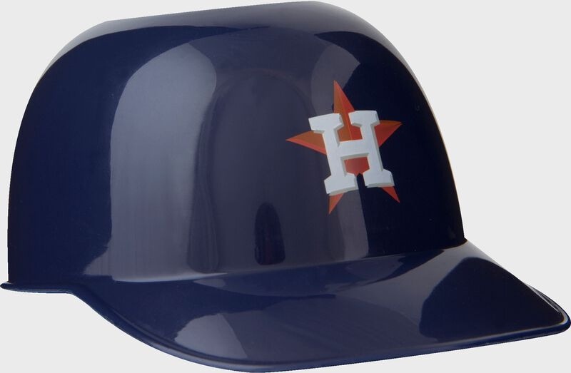Front of Rawlings Navy Blue MLB Houston Astros Snack Size Helmets With Team Logo SKU #01950002122