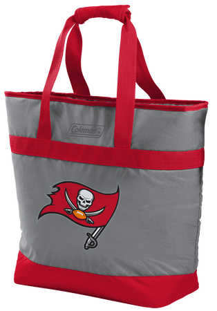 Rawlings Tampa Bay Buccaneers 30 Can Tote Cooler In Team Colors With Team Logo On Front SKU #07571086111