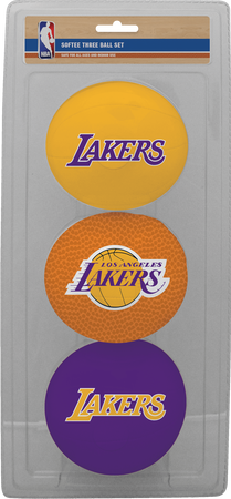 NBA Los Angeles Lakers Three-Point Softee Basketball Set