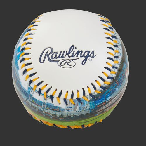 Rawlings logo on a Houston Astros team stadium ball