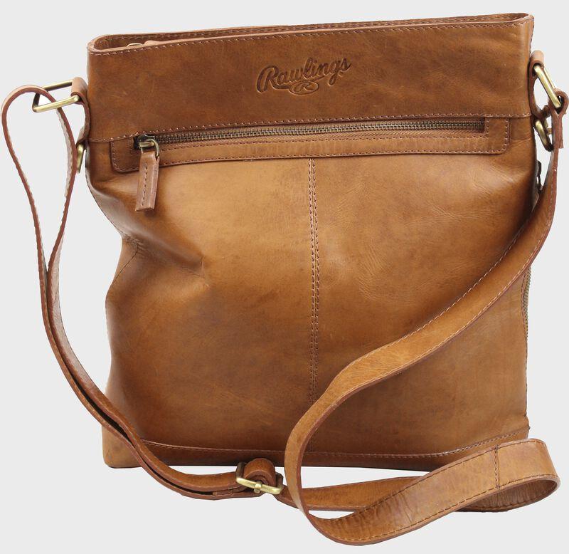 Women's Baseball Stitch Crossbody Bag | Tan