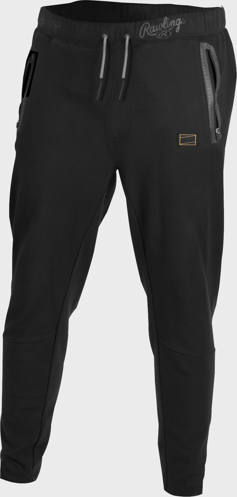 Black Gold Collection jogger style pants with gray draw strings - SKU: GCJOG-B