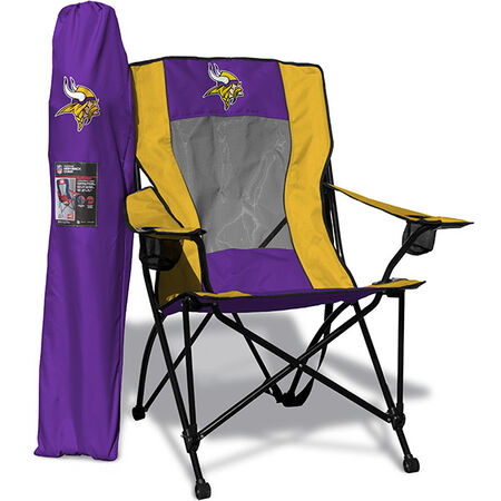 Front of Rawlings Purple and Yellow NFL Minnesota Vikings High Back Chair With Team Logo SKU #09211075518