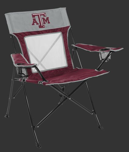Front of Rawlings Maroon and Grey NCAA Texas A&M Aggies Game Changer Chair With Team Logo SKU #00643061111