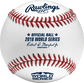 A WSBB18 MLB 2018 World Series baseball with the Official Ball stamp and league commissioner's signature