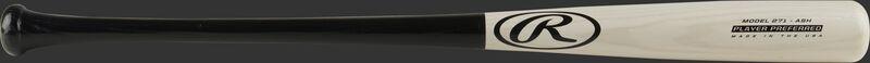 A 2021 Player Preferred 271 Ash wood bat with a white-wash barrel, black handle, & black logos - SKU: 271RAB