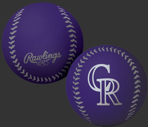 Rawlings Colorado Rockies Big Fly Rubber Bounce Ball With Team Logo on Front In Team Colors SKU #02870025112