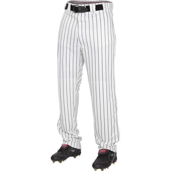 Adult Semi-Relaxed Pinstripe Pant Black