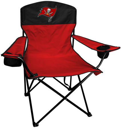 NFL Tampa Bay Buccaneers Lineman chair with team colors and logo on the back