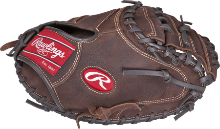 PCM30 Player Preferred 33-inch catcher's mitt with a brown thumb and brown One-Piece Solid web