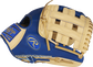 Thumb of a royal/camel Heart of the Hide ColorSync 5.0 11.75-Inch infield glove with a camel H-web - SKU: PRO205-6CRG image number null