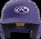 Front of a matte purple MACH junior size batting helmet image number null