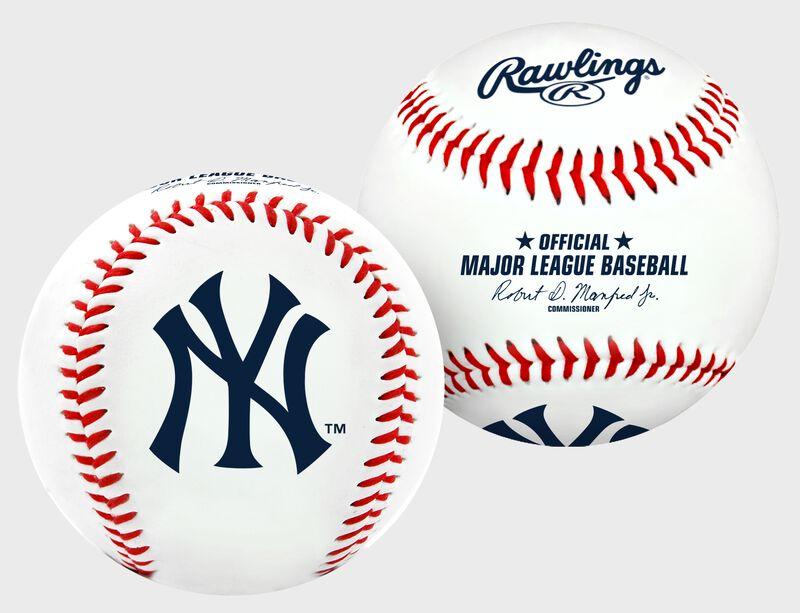 2 views of a MLB New York Yankees baseball