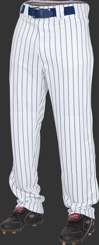 Front of Rawlings Navy Youth Semi-Relaxed Pinstripe Pant - SKU #YPIN150