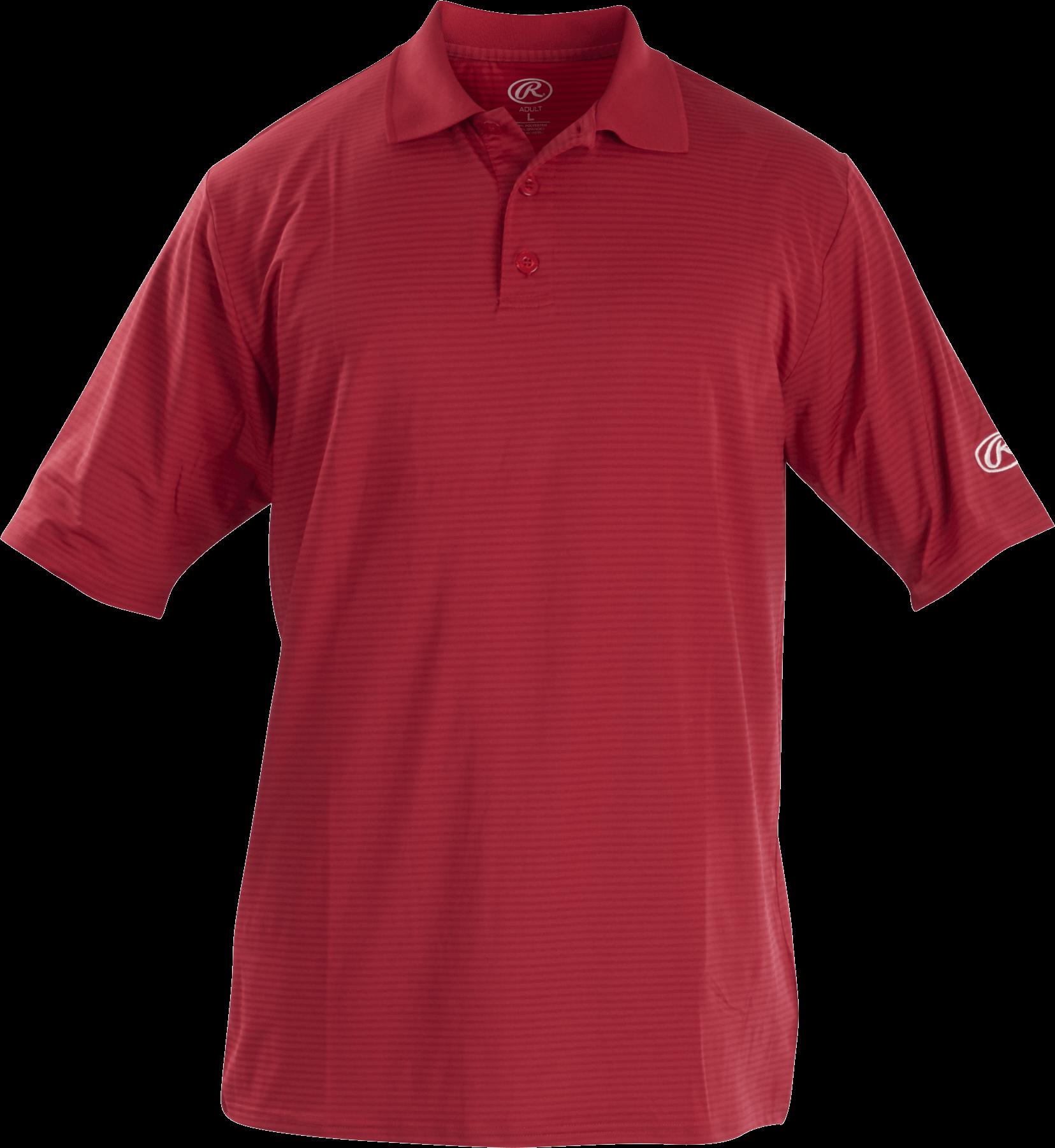 Rawlings Adult Short Sleeve Polo Shirt, 2-Button Front, Sport Baseball | Softball | Football |
