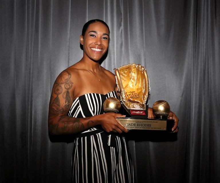 Jade Rhodes Gold Glove Award