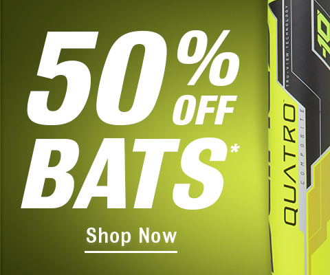 Up to 50% off Bats