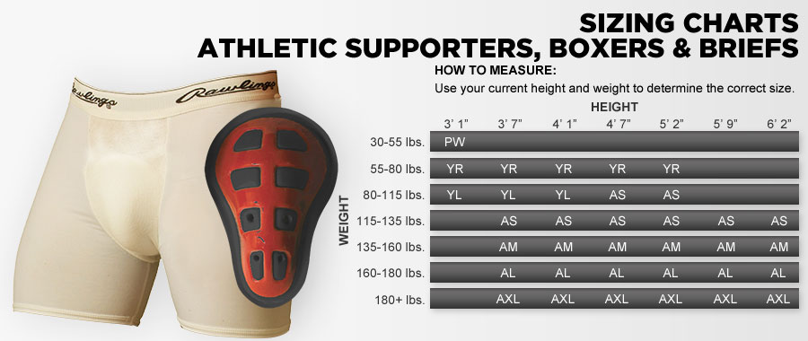Athletic Cup Size Chart - Sizing charts for sports ...