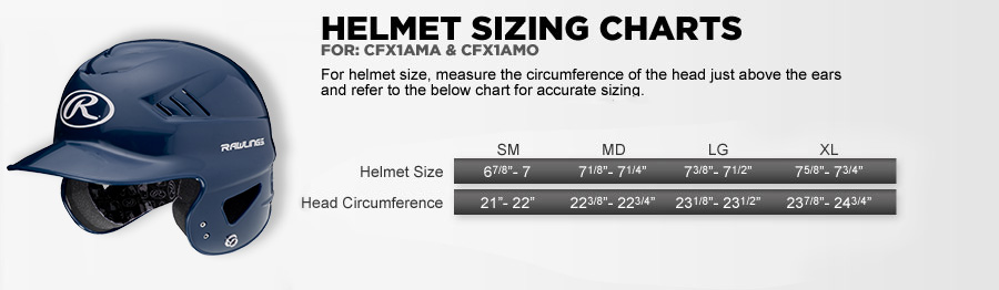 Sizing Charts for Sports Equipment & Apparel:: Rawlings.com
