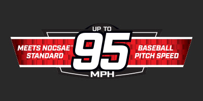 Meets NOCSAE Standard. Up to 95 MPH Baseball pitch speed